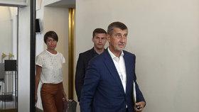 Andrej Babiš (ANO) při vstupu do Sněmovny