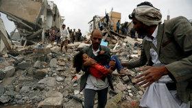 """Arabská koalice přiznala """"omyl"""", který stál život desítky civilistů."""