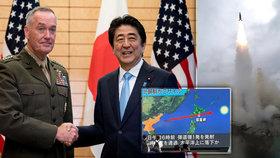 Balistická střela KLDR přeletěla nad Japonskem.