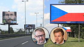 Reklamy podél dálnic nahradily státní vlajky.