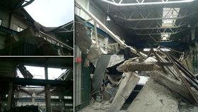Na Slovensku se zřítila střecha továrny: Lidi uvězněné pod sutěmi hledali psovodi
