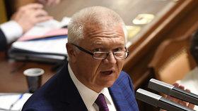 Jaroslav Faltýnek při jednání o jeho vydání v Poslanecké sněmovně