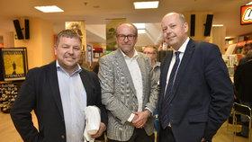 Na snímku Petr Tluchoř (zleva), Marek Šnajdr, Ivan Fuksa.