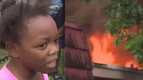 Holčička (8) zachránila celou rodinu před požárem, který propukl během řádění hurikánu Irma.