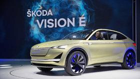 Škoda ve Frankfurtu ukázala koncept Vision E.