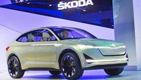Škoda ve Frankfurtu ukázala koncept Vision E