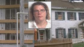 Matka Malista Ness-Hopkins (38) byla zatčena poté, co se zjistilo, že drží své děti v kleci.