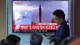 Japonci si pomalu zvykají na varování před raketami v televizním vysílání.
