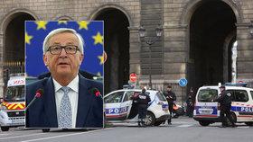 Další útok v Paříži. Juncker ale tvrdí, že uzavřením hranic se terorismu nezbavíme.