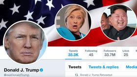 Americký prezident Donald Trump na Twitteru