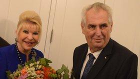 Miloš Zeman se potkal s exmanželkou Trumpa.