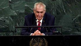 Zemanův projev v OSN v roce 2017