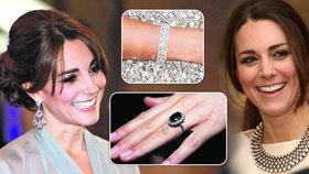 Kate Middleton (35) vyrůstala v lepší střední třídě a byla zvyklá na kvalitní, avšak nijak přepychové prostředí. Ale jak známo, dovedla se výborně vdát. Projevilo se to i na její klenotnici. Její šperky mají hodnotu přes 30 milionů korun.