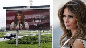 Kvůli Melanii Trumpové v Chorvatsku odstranili billboard, žertoval o její angličtině.