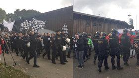 Čeští a rakouští policisté trénovali zásah mimo jiné proti fotbalovým fanouškům.