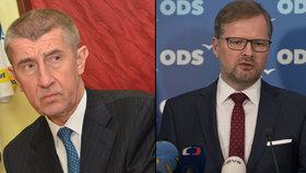 Andrej Babiš a Petr Fiala