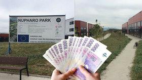 Technologický park Nupharo nedaleko Ústí nad Labem dostal od EU dotaci 300 milionů korun. Jeho budoucnost je nejistá.