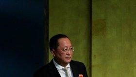 Ministr zahraničí KLDR Ri Jong-hon na Valném shromáždění OSN