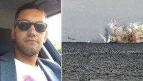 Během vojenské přehlídky v Itálii se do moře zřítil letoun Typhoon.
