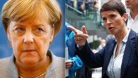 Šéfka AfD Frauke Petryová kritizuje Merkelovou. Se svou stranou však nechce sedět v parlamentu.