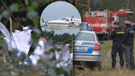 Po nehodě malého letadla na Českolipsku zemřeli dva lidé