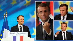 Macron se při proslovu o reformě EU rozvášnil.