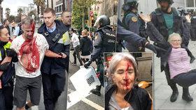 Policisté použili proti voličům v Katalánsku při referendu o odtržení od Španělska gumové projektily. Na místě jsou zranění. Centrální vláda konání referenda považuje za protiústavní
