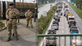 Dánské hranice střeží vojáci.