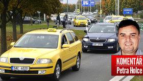 Pomohli si taxikáři blokádou?