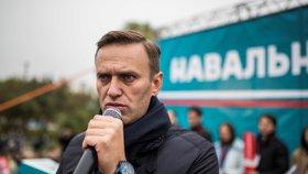 Navalnyj při demonstraci