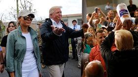 Prezident Trump dorazil do Portorika.