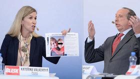 Exministryně Valachová (ČSSD) vytáhla ve vyhrocené debatě o inkluzi s Klausem mladším (ODS) fotky dětí s hendikepem