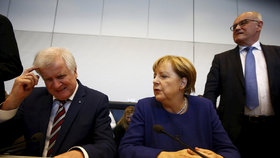Německá kancléřka Angela Merkelová (CDU) s koaličním partnerem Horstem Seehoferem (CSU)