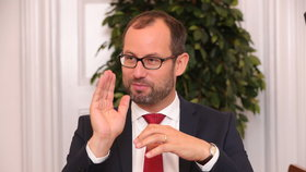Jan Farský při předvolebním rozhovoru Blesku