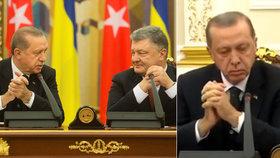 Erdogan na návštěvě v Kyjevu