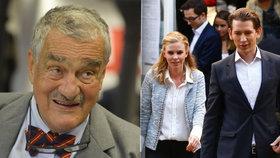 Karel Schwarzenberg vidí ve vítězi rakouských voleb Sebastianu Kurzovi velkou politickou naději. Výsledky rakouských voleb prý ale ty naše o víkendu neovlivní.