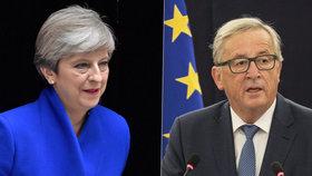 Theresa Mayová se shodla s Jean-Claude Junckerem na nutnosti zrychlit jednání o brexitu.