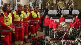 Pohřeb Adolfa Klepše (†53) ve Vrchlabí