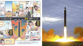 Komiks Japonce učí, jak se chovat v případě jaderného útoku.