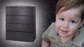 Malého Jozefa zavalila komoda z Ikee.