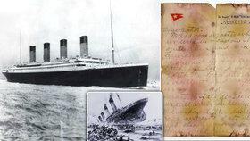 Dopis z Titaniku byl vydražen za neuvěřitelných 3,6 milionu. Byl napsán den před potopením.