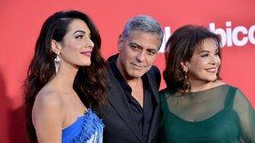 George Clooney s manželkou Amal a její maminkou Bariou Alamuddin