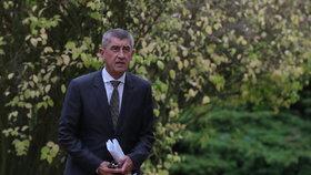 Andrej Babiš (ANO) na povolebních jednáních v Lánech.