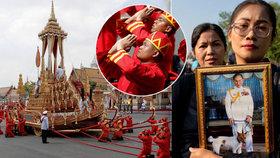 Thajsko truchlí pro zesnulého krále, po roce začal pohřeb