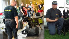 Vynikající jméno mají ve světě služební psi vychovaní v Česku. Vpravo Tomáš Krutina (47) se služební fenkou Casey (4,5).