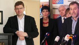 Jiří Pospíšil a Luděk Niedermayer, oba europoslanci za TOP 09, podporují úzkou spolupráci pravicové Topky se Starosty a lidovci.