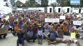 Uprchlický tábor v Papui-Nové Guineji
