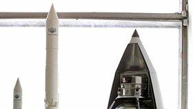 Raketa, která vynesla Lajku na oběžnou dráhu.