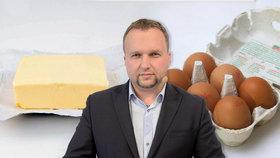 Drahé máslo a vejce: Co na to minister zemědělství?