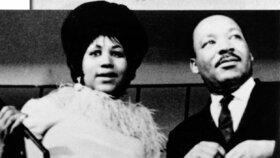 Martin Luther King se zpěvačkou Arethou Franklin